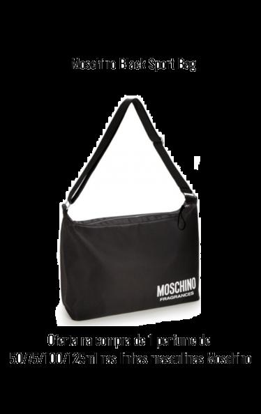 O0200 - Moschino Black Sport Bag