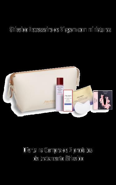 O0205 - Oferta Shiseido Necessaire viagem com miniaturas